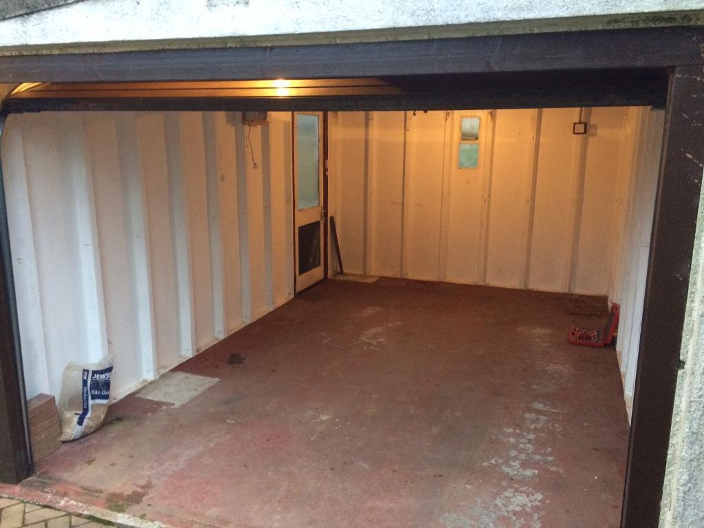 Prefab Garage Electric Garage Door Disassembled In Millbrook