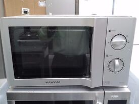 Daewoo KOR6L65SL Silver 800W 20L 5 Power Level Manual Control Microwave Oven