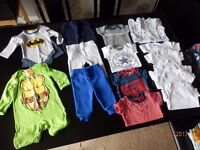 baby boys summer clothes all as new from smoke and pet free home 0-3 months