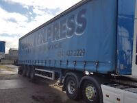 2009 montracon 13.6 metres by 4.2 metres high currtainside triaxle trailer one owner
