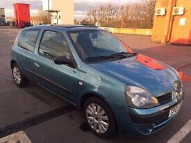 Renault CLIO 1.4 AUTO 2005 BLUE 3 DOOR WITH SUN ROOF
