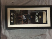 GUINNESS PUB ADVERTISING PICTURE WOODEN FRAME
