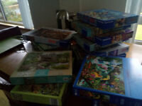 Wide selection of jigsaw puzzles all excellent condition; Ravensburger, Gibson.