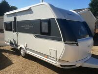 Hobby Caravan 495 De Luxe (2015) Awning Included, One Owner. Like Fendt and Tabbert