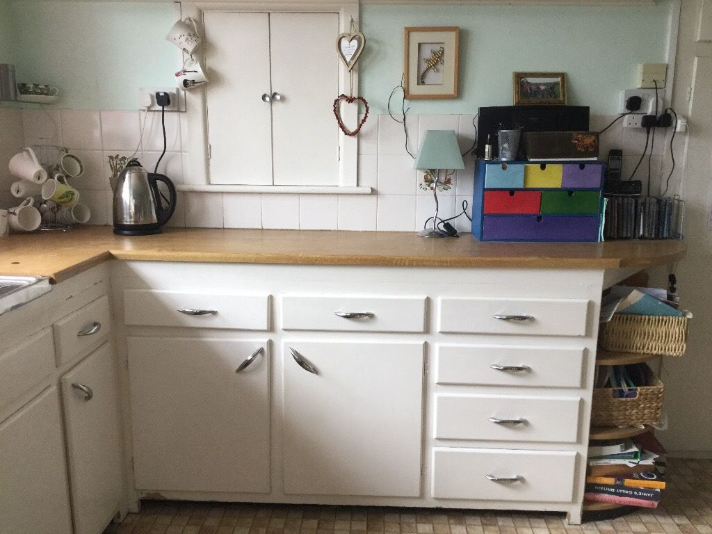 Kitchen cupboard doors, and drawers from retro kitchen | in ...