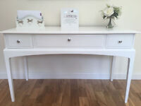 White vintage STAG Minstrel 3 drawer dressing/console/hall table - Not Shabby Chic