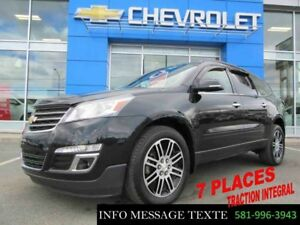 2015 CHEVROLET TRAVERSE AWD LT, 7 PLACES, AWD