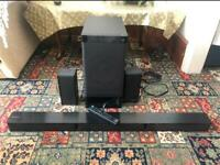 SONY HT-RT3 600 Watts 5.1 WiFi Bluetooth Sound Bar and Wireless Subwoofer with 2 Rear Speakers