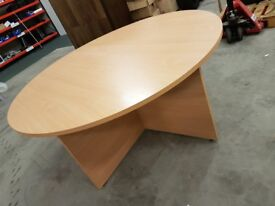 Beech, Round Conference Table, very solid, excellent condition