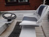 Aluminium Boat & Trailer with inboard steering & swivel seat, The boat is Welded construction