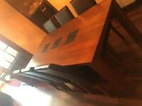 Dining room table and 6 chairs.
