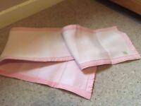 'Safe Dreams' Pink Bumper Set x2 (suitable for cot beds)