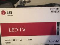 Black 32 inch LG Flat Screen (unopened)