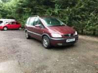 Automatic Vauxhall zafira elegance 16V for sale, MOT, drives perfect.