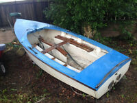 Project Boat : GP14 Dinghy for renovation Sail No 9562 GRP Hull Sale by donation