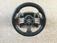 Logitech G27 steering wheel with quick release adapter. F1 GT racing driving games