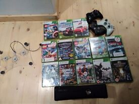 Xbox 360 console plus games