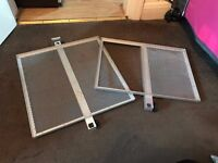 Pair of Silver Metal Fishing Side Trays For Seat Box Universal Attachment Square