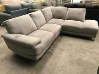 New grey corner sofa