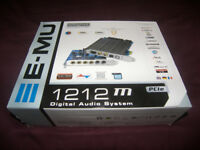 E-MU / EMU 1212m PCIe , Professional Digital Audio / MIDI System for PC and MAC.