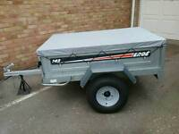 Car Trailer ERDE 142 TIPPING. Approx 5ft x 3ft 6ins