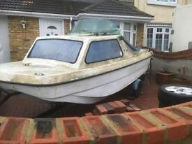 14ft CJR, day fishing boat