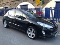 PEUGEOT 308 SPORT THP, 2010, 1.6 PETROL, BLACK, 6 SPEED MANUAL, 5 DOOR HATCHBACK