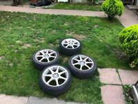 """17"""" Alloy wheels and tyres"""