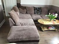 Corner sofa with stool in perfect condition