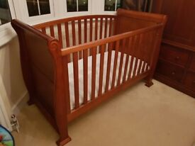 Babies R Us Sleigh cot/ bed