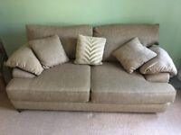 2 seater & 3 seater fabric sofa in good condition