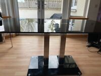 Dining room table black glass
