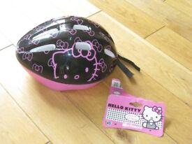 Bike Helmet - Hello Kitty Black & Pink