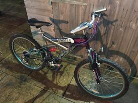 Megna Twister Full Suspension Kids Bike, Serviced, Free Lights.