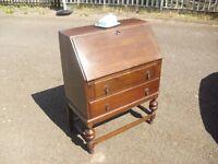 Lovely 30's 40's Era Oak Writing Bureau Desk