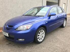 MAZDA 3 , 2008/58 REG ** FINANCE AVAILABLE ** LOW MILEAGE + FULL HISTORY ** YEARS MOT , WARRANTY