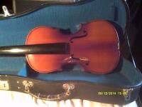"TWO "" SKYLARK "" CHINESE FIDDLES in V.G.C BUT NEED STRINGING etc. ,BOTH IN GOOD CASES"
