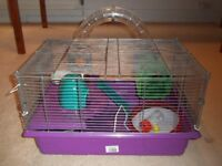 HAMSTER CAGE WITH MANY ACCESSORIES / TREATS