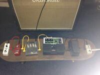 Guitar fx peddle board.