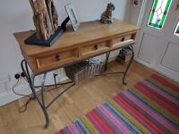 Oak console hall table for sale