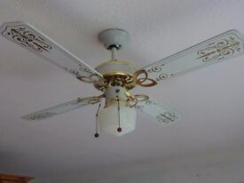 Ceiling fan and light - American style