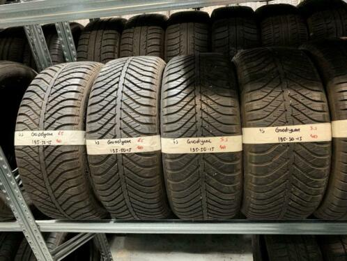 4x 195-50-15 Goodyear ALL SEASON 6.5mm Inc Montage 195 50 15