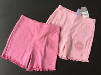 Baby Girl's 2 pairs of Soft Light Summer Trousers, brandnew with tags, Next, for age 6-9 months