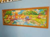 Disney jigsaw framed