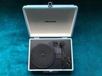 Crosley Cruiser Briefcase Style Three Speed Portable Vinyl Turntable - Turquoise
