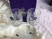 Edinburgh Crystal Berkeley, International Large Wine Glasses..Original box & Unused