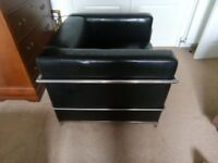 black chair for sittingroom, conservatory or bedroom