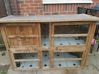 Free rabbit hutch 5ft Double.