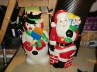 Father christmas and Snowman decoration