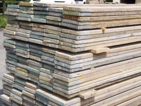 USED RECLAIMED FULLY DRY WELL SEASONED 13ft (3.9m x 225mm x 36mm) Scaffold Boards Scaffolding Planks